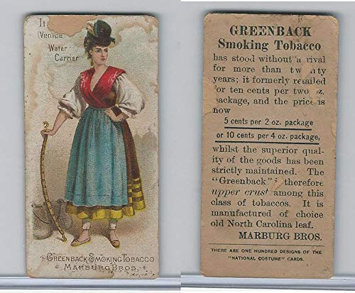 N407 Marburg Bros, National Costumes, 1887, Italy, Venice Water Carrier]()