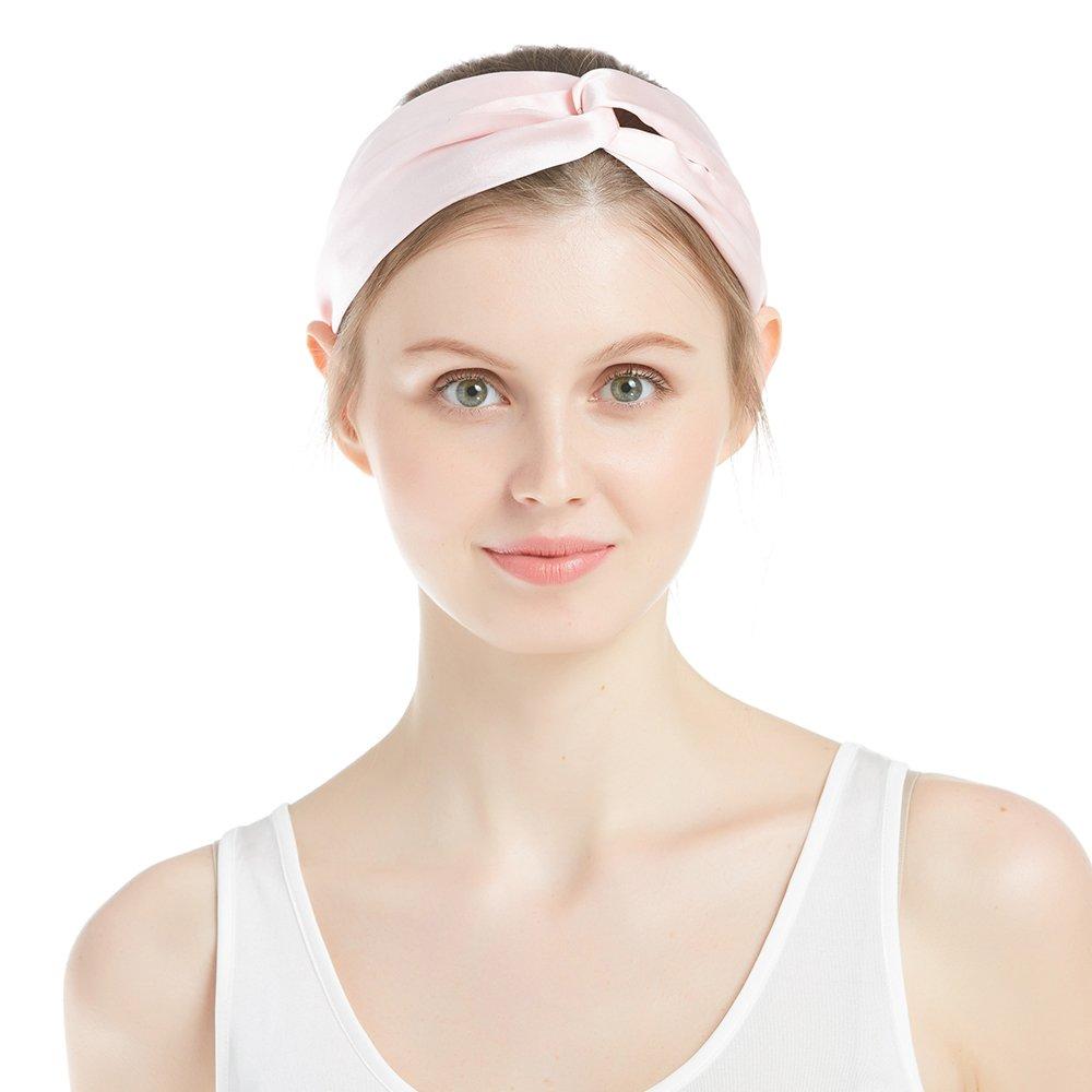 LilySilk Silk Women Pajama Sets 7pcs Hair Band and Hair Ties Short and Long Sets Sleepwear Ladies Light Pink XL/14-16 by LilySilk (Image #6)