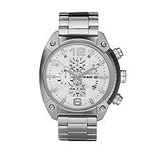 Diesel Men's DZ4203 Silver Stainless-Steel Quartz Watch with Silver Dial