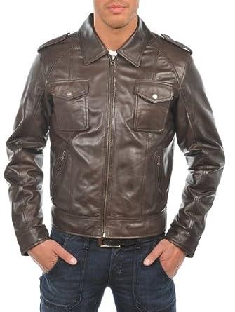 9fbd5060a8 Arturo - Blouson Cuir Homme Arturo ARM614 Couleur - marron, Taille Homme -  3XL: Amazon.co.uk: Clothing