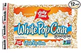 Jolly Time White Popcorn Kernels - Bulk Stovetop Natural Popping Corn, 2 lb. Bags (Pack of 12) (Pack of 24)