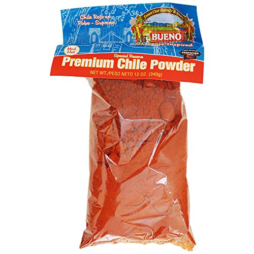 Bueno Special Reserve Premium Red Chile Powder, MED-HOT, 12oz. Bag ()