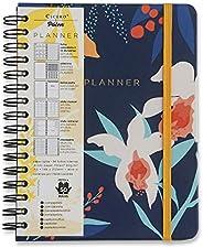 Planner Wire-o Pólen, Cicero, Azul Marinho, Mensal e Semanal, 96 Folhas, Papel Pólen 80g/m², Tamanho A5 (Grand