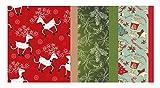 Vintage Kraft Tissue Paper (Christmas Reindeer-Mistletoe-SodaShoppe Prints) 102 Kraft Tissue Pack