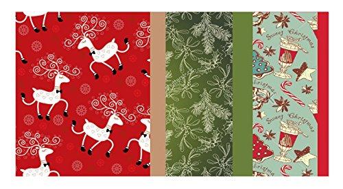 (Vintage Kraft Tissue Paper (Christmas Reindeer-Mistletoe-SodaShoppe Prints) 102 Kraft Tissue Pack)