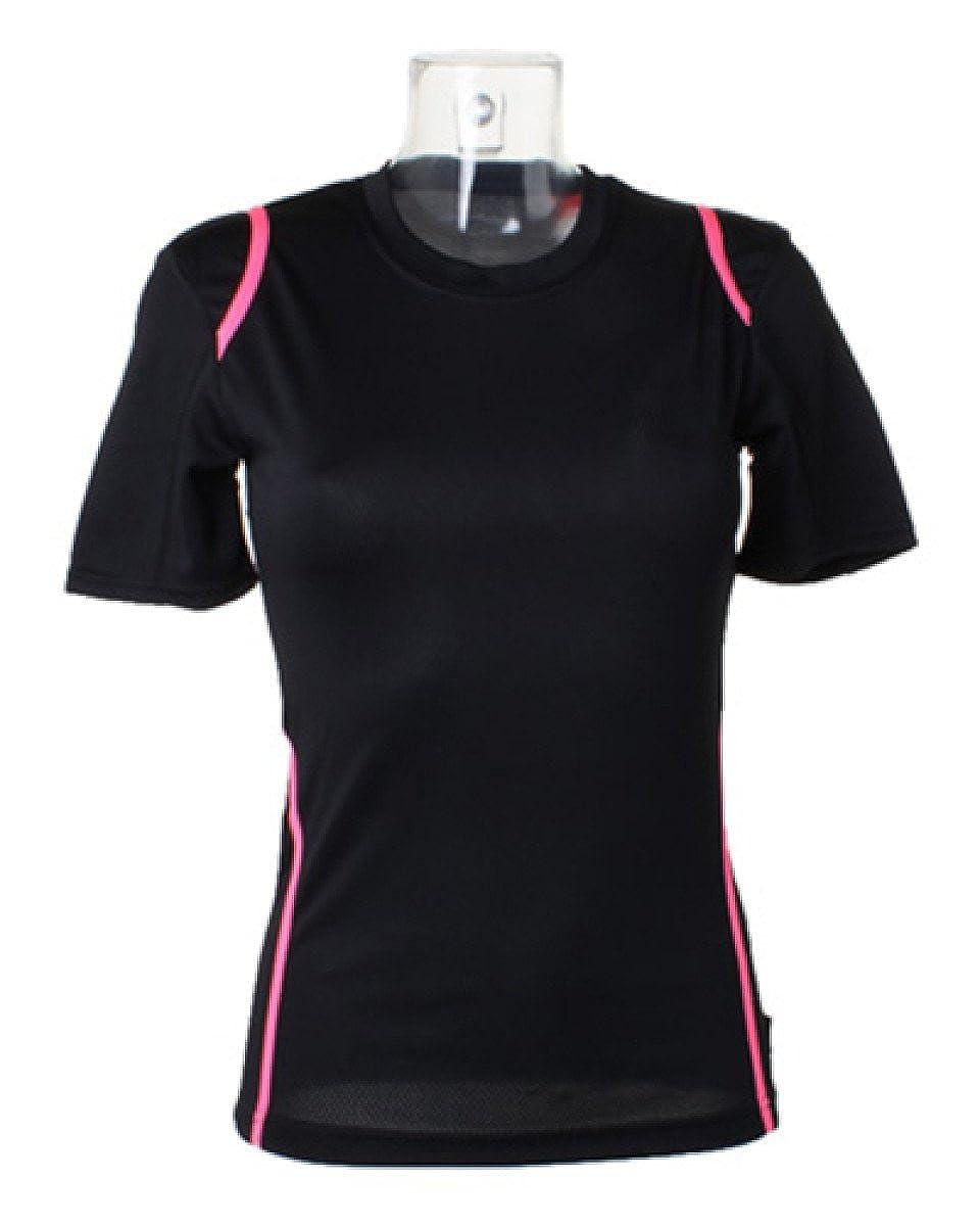 Gamegear Ladies' Cooltex Short Sleeved T-Shirt Black/Fluorescent Pink 8