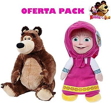 Masha y el Oso Peluches Pack 2 Unidades: Amazon.es: Juguetes y juegos