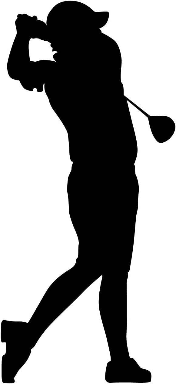 TheVinylGuru Golf Wall Decal Sticker 9 - Decal Stickers and Mural for Kids Boys Girls Room and Bedroom. Sports Wall Art for Home Decor and Decoration - Golfing Silhouette Mural