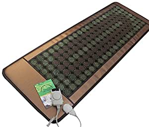 """Healthyline Natural Jade & Tourmaline Mat (72""""L X 24""""W) Negative Ions / Fir / Far-Infrared / Multi Heat & Energy Therapy Healing Pad"""