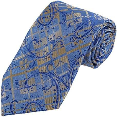 DAA7B16-18 Designer Paisley Ties for Men Microfiber Evening Neck Tie By Dan Smith