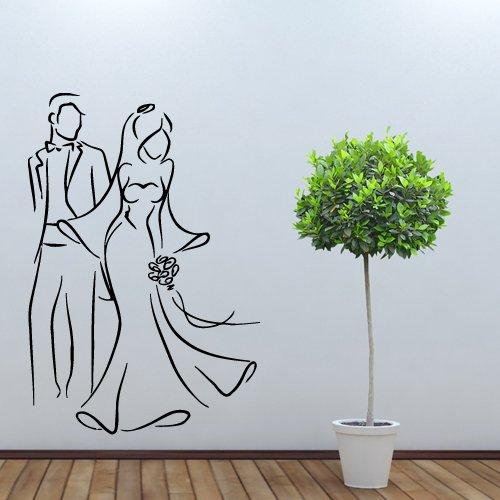 Wall Decal Vinyl Art Decor Sticker Design Wedding Salon Shop Newlyweds Clothing Sale Signboard Costume Dress (Sale Costumes)