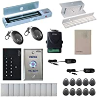 Visionis FPC-5339 One Door Access Control Inswinging Door 600lbs Maglock with VIS-3002 Indoor use only Keypad/Reader Standalone no software em card compatible 500 users Wireless Receiver Kit
