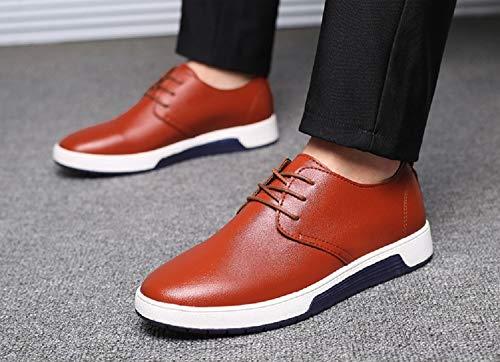 Lacets 1 Casual Chaussure Respirant Bleu Derby De Dressing Mariage Joyto Homme Marron Oxford Marron Business Cuir Noir 48 38 YFwgxUq