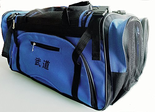 "[GTE Zone] Taekwondo, Martial Arts, MMA, Karate, Sparring Gear Equipment Bags (13""x27""x14"" (Blue w/Mesh Top & Side), 125F)"