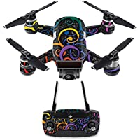 Skin for DJI Spark Mini Drone Combo - Color Swirls| MightySkins Protective, Durable, and Unique Vinyl Decal wrap cover | Easy To Apply, Remove, and Change Styles | Made in the USA