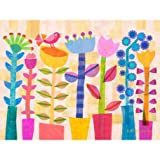 Oopsy Daisy Spring Jazz Panoramic Stretched Canvas Art by Gale Kaseguma, 40 by 30-Inch, Baby & Kids Zone