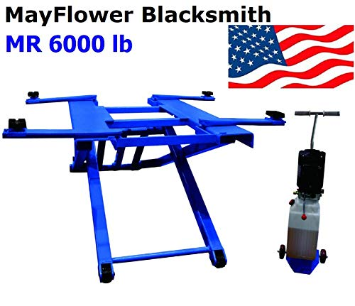 Mayflower Blacksmith Portable Mid Rise Scissor Car Truck Lift 6000 lb MR 6000 ()