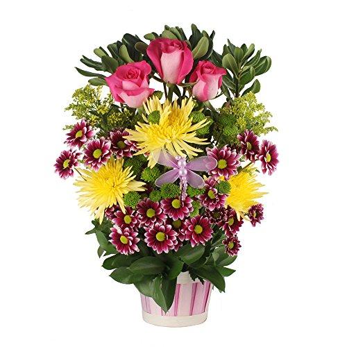 eFlowy Beautiful Flower Basket for Birthday by eFlowy