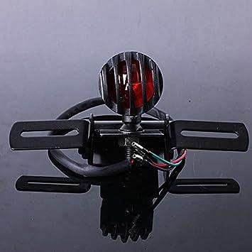 Alamor Motocicleta Freno Trasero luz Trasera Soporte para Harley Chopper Flotador - Negro: Amazon.es: Hogar