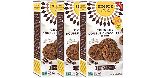 Chocolate Flour - Simple Mills Crunchy Cookies, Double Chocolate, 5.5 oz, 3 count
