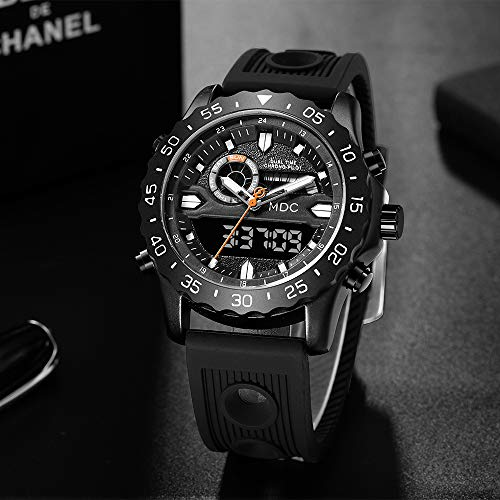 Big Face Military Tactical Watch for Men, Mens Outdoor Sport Wrist Watch, Large Analog Digital Watch - Dual Display… 3