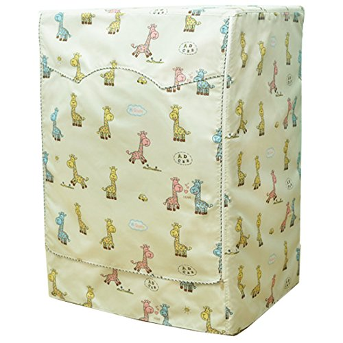 Giraffe Printed Waterproof and Sunscreen Cover Only for Front Load Home Washer, Washing Machine or Dryer to Keep Your Appliance from Dust. 23
