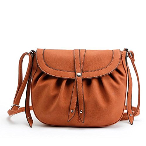 Tongshi Leather Handbag Hobo New Women Lady Fashion Satchel Messenger Bags Brown