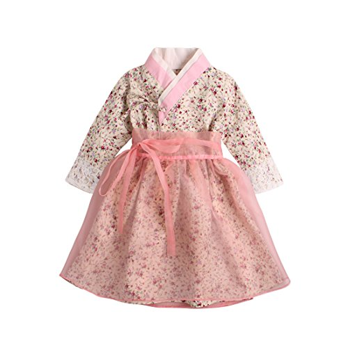 434ad7f6c6b8d PAUBOLI Baby Girl Korean Clothes Korean Hanbok Long Sleeve Dress ...
