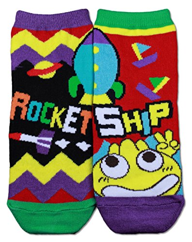Gama Family Word Learning Unisex Children Socks - Teach Compound Word Rocketship