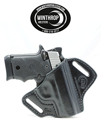 Winthrop Holsters OWB Pancake Black Leather Holster (Sig Sauer P938#0319)