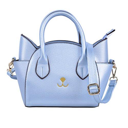 QZUnique Women's Summer Fashion Top Handle Cute Cat Cross Body Shoulder Bag Blue (5 Purse)