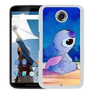 Cartoon Lilo & Stitch White Recommended Customized Design Google Nexus 6 Case