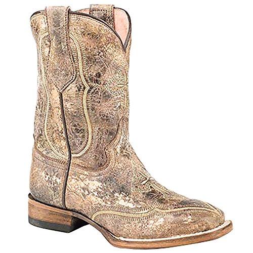 Roper Footwear Boys Kids Glitter Distressed Leather Boot 3 (Distressed Leather Kids Shoes)