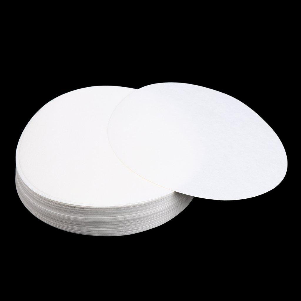7cm Baoblaze 100pcs Round Quantitative Filter Paper Laboratory Filtration Lab Supplies 30um-50um 70//90//110//125//150mm White