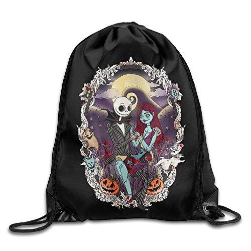 Runy Nightmare Before Christmas Adjustable String Gym Backpack - Christmas Sale Oakley