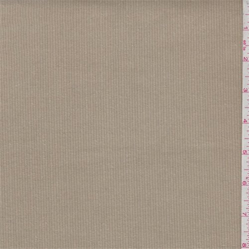 Tan Cotton Corduroy, Fabric by The Yard