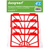 Duogreen Neato XV-11 XV 11 Robotic Vacumm Cleaner Filter 945-0004 Replacement, 4-Pack