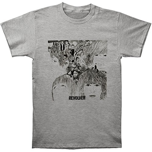 Revolver Album Cover - The Beatles Revolver Cover Adult T-shirt - Heather Grey (Large)