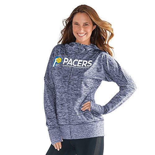 GIII For Her NBA Indiana Pacers Women's Receiver Hoody, Medium, Navy