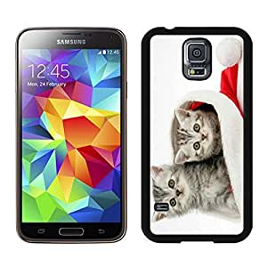 New Design Christmas Cat Black Samsung Galaxy S5 Case 15