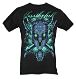 Blessthefall (Bless The Fall) Mens T-Shirt - Glowing Eyes Magical Helmet (Large) Black