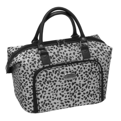 Amelia Earhart Luggage Safari 360 Collection Cosmetic Tote, Silver/Black Jacquard, One (Amelia Earhart Luggage)