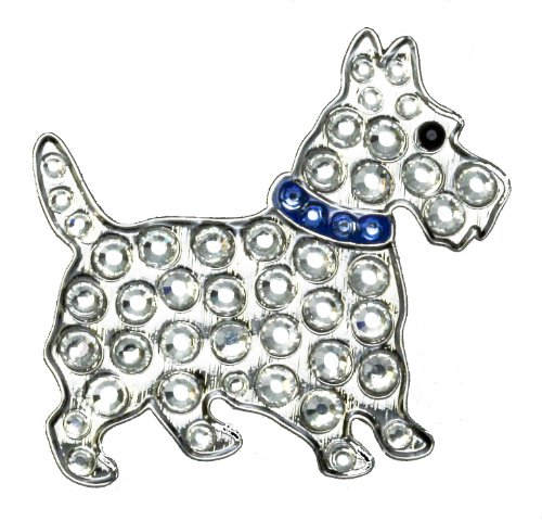 - Navika Scottie Dog Swarovski Crystal Ball Marker with Hat Clip (Blue)