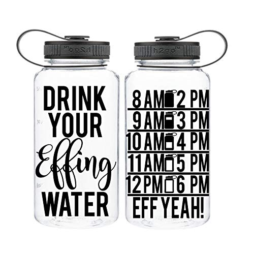 Drink Your Effing Water – 32 Ounce Wide Mouth Bottle – Name and Color Customization