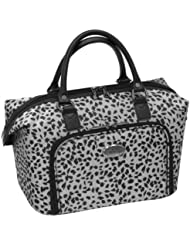 Amelia Earhart Luggage Safari 360 Collection Cosmetic Tote, Silver/Black Jacquard, One Size
