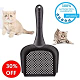 myonly Cat Litter Scoop with Handle Small Holes Hamster RABIT Snake Sifter Scoop High Qulity PVC Non-Toxic