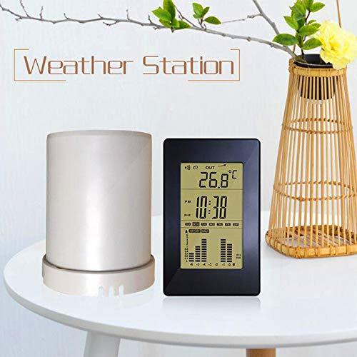 Automatic Rain Gauge Digital Displa in/Outdoor Temperature Weather Station Rainfall Statistics Recorder Wireless Rain Gauge