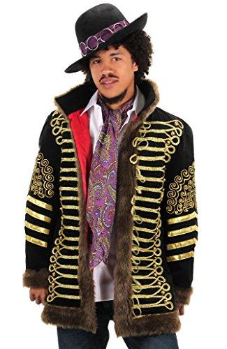 (Jimi Hendrix Deluxe Jacket Mens L/XL Black)