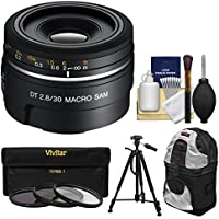 Sony Alpha A-Mount 30mm f/2.8 DT Macro SAM Lens with Sling Backpack + Tripod + 3 Filters + Kit for A37, A58, A65, A68, A77 II, A99 Cameras Advantages Review Image