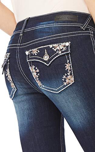 WallFlower Women's Juniors Luscious Curvy Bling Bootcut Jeans in Kyle, 9